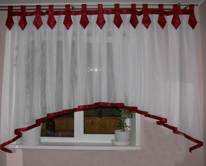 Шторы для кухни своими руками фото штор