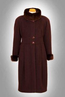 Пальто женское с норкой
